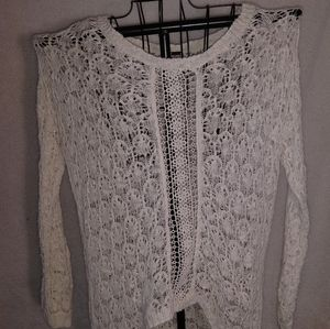 Poof! Sweaters - Lace, cream sweater